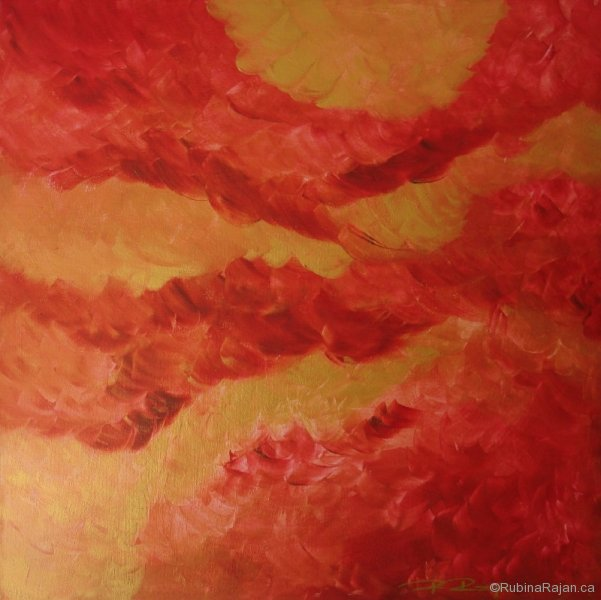 Movement in red and gold